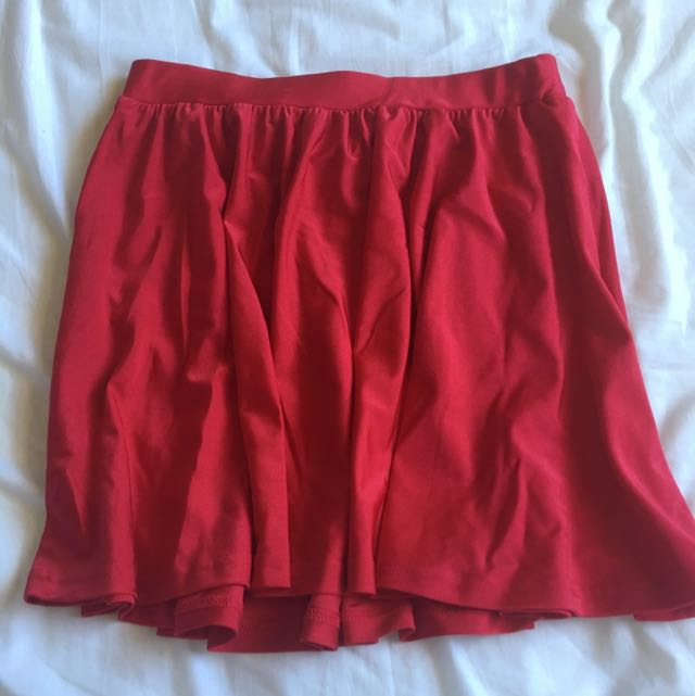 Women's Skirt Bright Vibrant Red Mini Midi Going Out