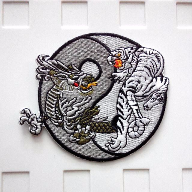 Yin Yang Tiger Dragon Tattoo Iron On Patch Men S Fashion Clothes