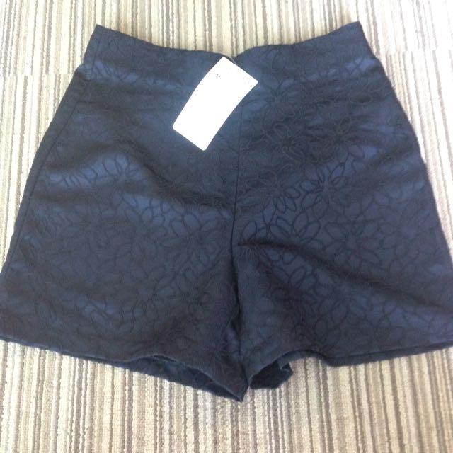 Zara Flower Black Pants