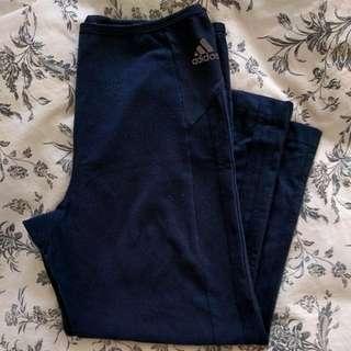 Adidas Navy Cropped Yoga Pants