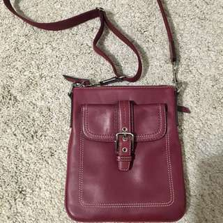 Leather coach Cross Body