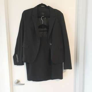 RW&Co Navy Skirt Suit