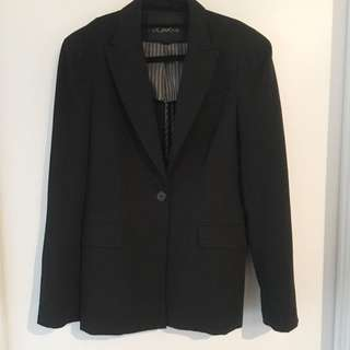 Forever 21 Black Long Blazer