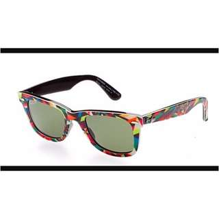 LIMITED EDITION polarized Ray Ban Wayfarers Rare print By Matt W. Moore