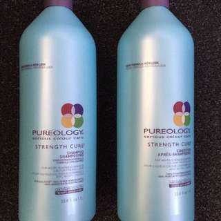 Brand New Pureology Strength Cure Shampoo And Conditioner 1L Each