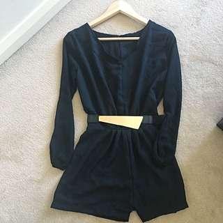 Elegant V-Neck Long Sleeve Jumpsuit