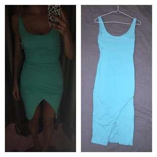 Kookai Dress In Teal Size 1