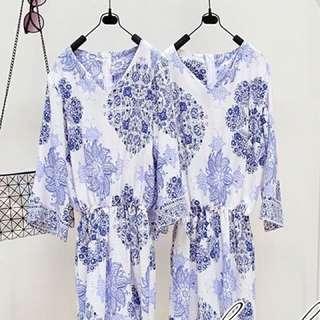 Jumsuit Floral Blue