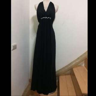 黑色美背晚禮服