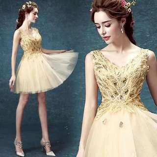 Gold Colour Gown