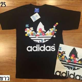 Adidas Black Top Tee T- shirt  . Men & Women M ,L, Xl Size