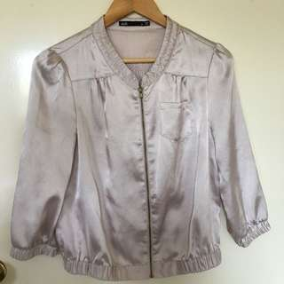 Dotti Size 8 Lightweight Pink Satin Jacket