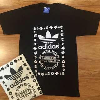 Adidas Black Top Tee T- shirt  . Men & Women , M, L , XL Size