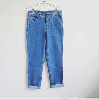 Hw Jeans 7/8 Dark Blue