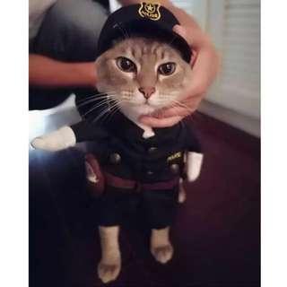 寵物變裝狗狗貓咪衣服警察裝