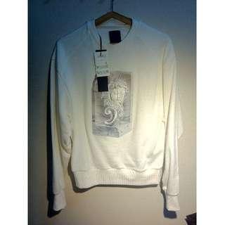 *SALE* Juun.J : White Marble Angel Embroidery Print Sweatshirt (NEW w/ TAG) **RARE** 100% Authentic