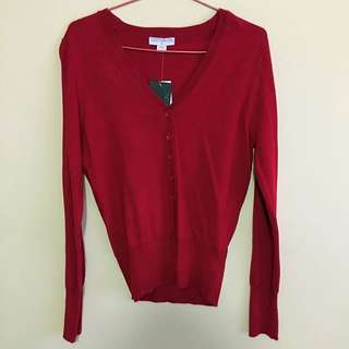 Cotton On Red Cardigan