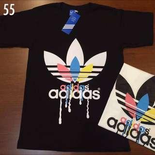 Adidas Black Top Tee T- shirt  . Men & Women M, L , Extra Large Size