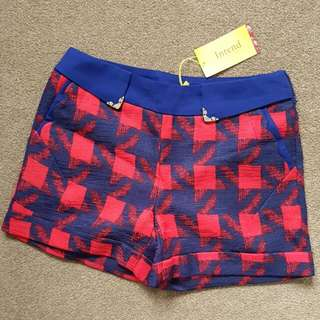 NEW* High Waisted Checkered Shorts. Sz S