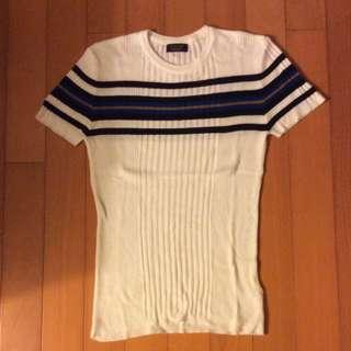 Zara 針織毛衣短袖