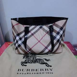 Auth Burberry Tote Bag