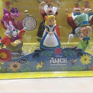 日本迪士尼 愛麗絲夢遊仙境 公仔組