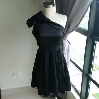 RESERVED Black Toga Dress