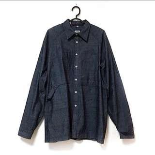 Dark Denim Button Down Shirt