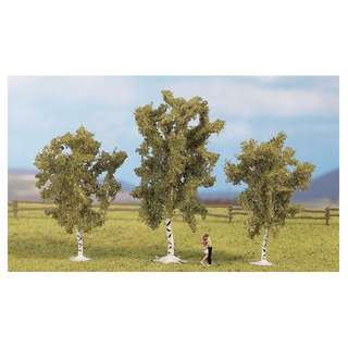 "[H0 1/87] Model Trees ""Birches"", set of 3 with different shapes [Noch] NEW"
