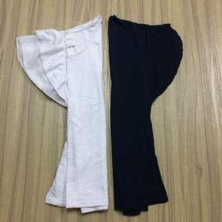 韓 超舒適竹節棉 基本款 低公主袖上衣