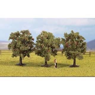 "[H0 1/87] Model Trees ""Apple Trees"", set of 3 with different shapes [Noch] NEW"