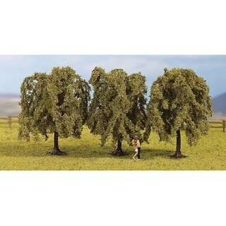 "[H0 1/87] Model Trees ""Weeping Willows"", set of 3 with different shapes [Noch] NEW"
