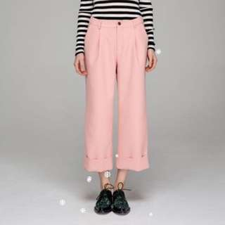 Wide Cuff Chic Cropped Pants