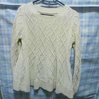 韓製美美的白色毛衣