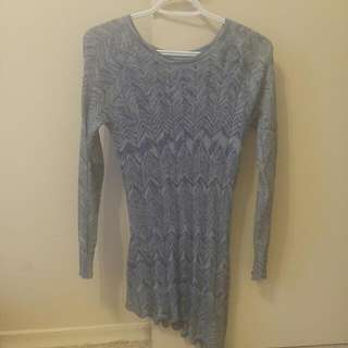 Assymetric Sweater Dress Fits M Or S