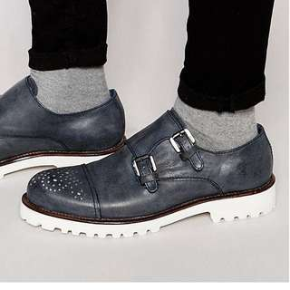 Rule London Double Monk Strap Shoes/brogues