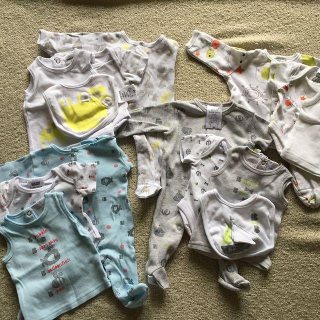 4 x Tiny Baby 00000 Suit Sets