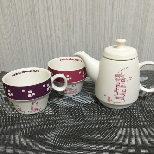 下午茶☕️🍰鄉村風格雙人杯具組合
