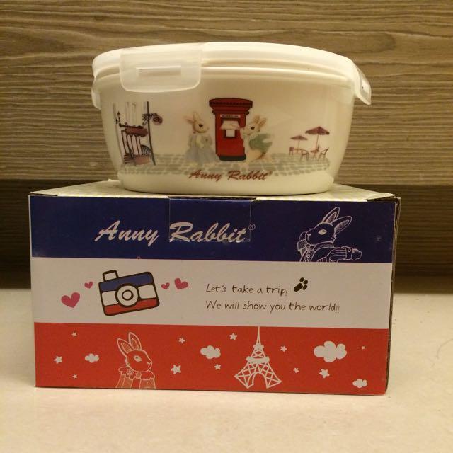 安妮兔陶瓷保鮮密扣蓋碗