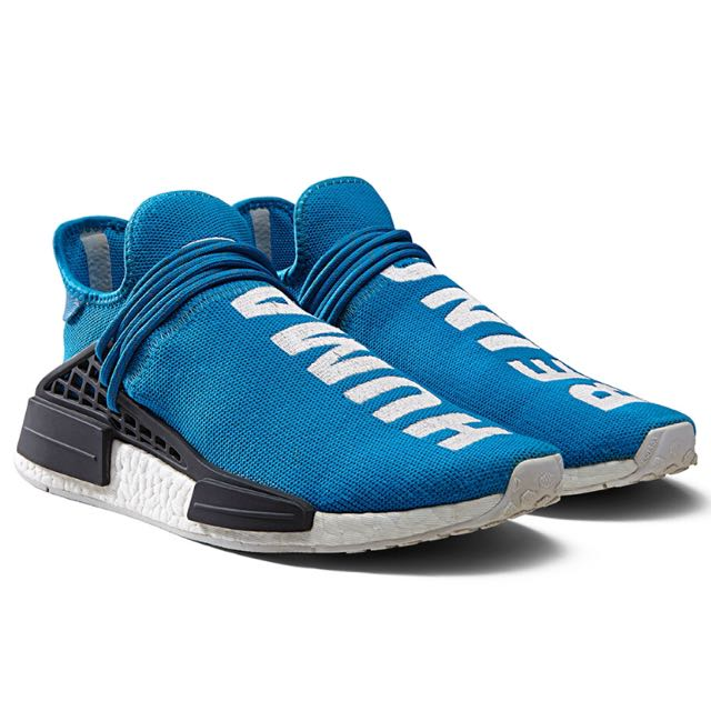 ea47129651175 Adidas NMD Human Race Blue Pharrell William