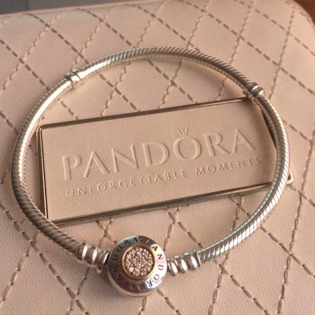 Authentic Moments Two Tone Bracelet with Pandora Signature Clasp (18 cm)