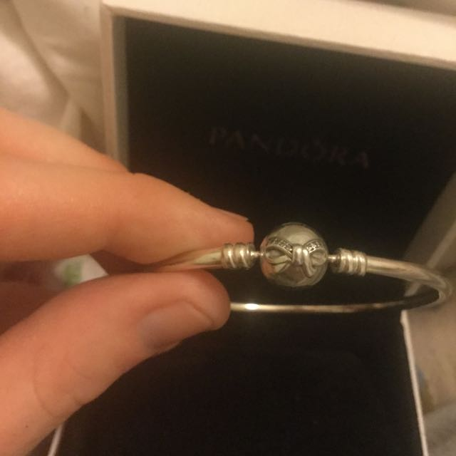 Authentic PANDORA Danity bow Silver Bracelet