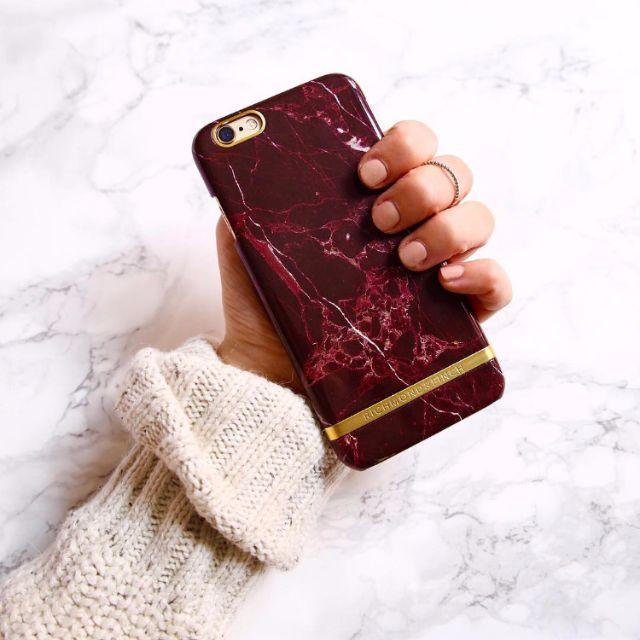 CC Collection 代購 Richmond & Finch iPhone 6/6P 7/7P 酒紅大理石紋手機殼