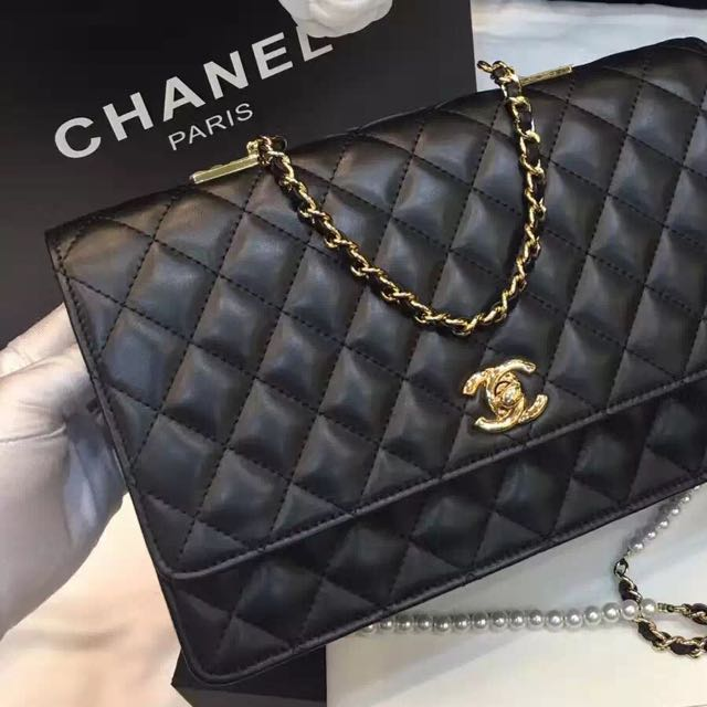 d92a739e99cd60 Chanel Lambskin with Fantasy Pearls Large Evening Flap Bag A98572 ...