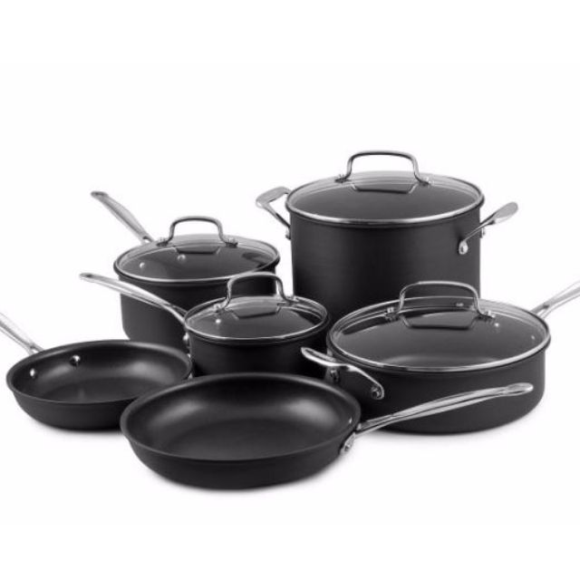 Cuisinart Chef's Classic Non-Stick Hard Anodized Cookware 10Pc Set
