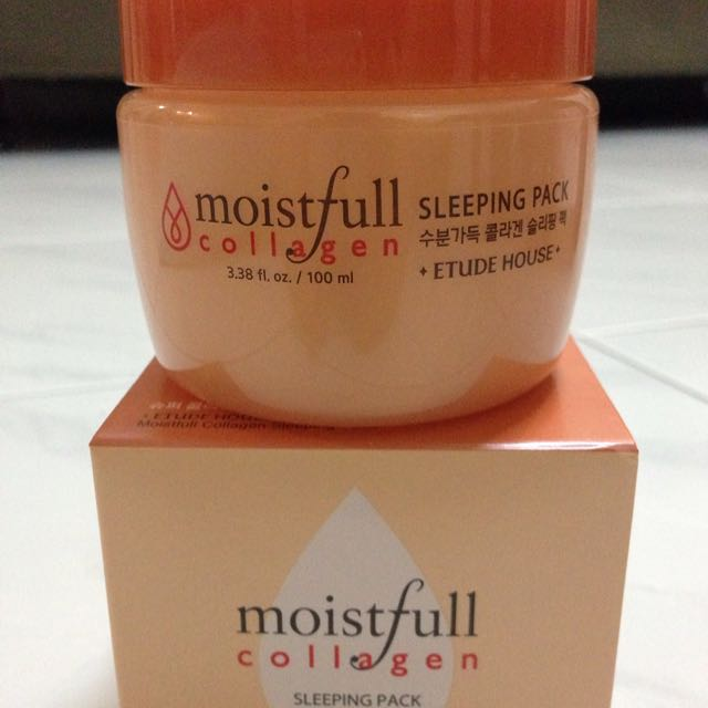 Etude House Moistfull Collagen Sleeping Pack, Health & Beauty, Skin, Bath, & Body on Carousell