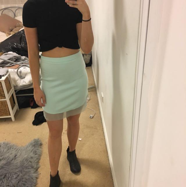 Faith & Lola Mint Skirt