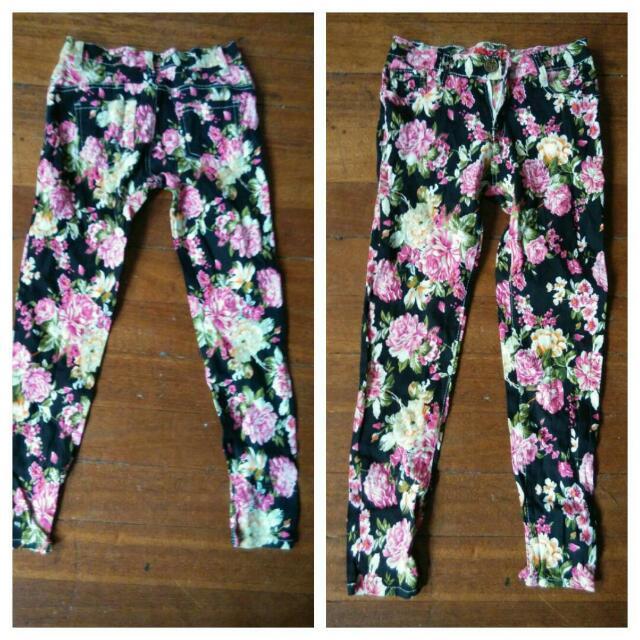 floral pants: #freeshipping within metro manila
