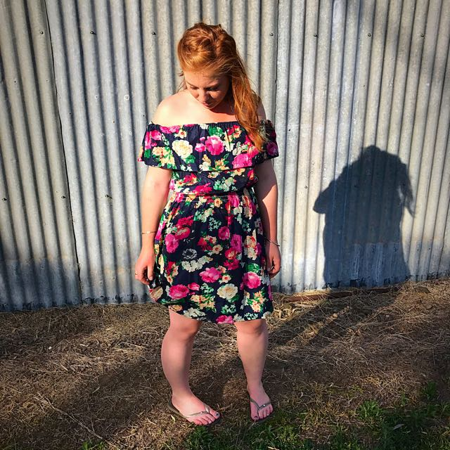 Flowery Off The Shoulder Dress