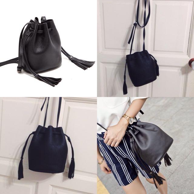 H&M Bucket Bag With Tassel